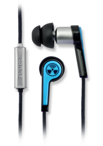 iFrogz Equinox with Mic Noise Isolating Ear Buds Blue
