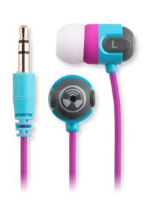 iFrogz EarPollution Origin Earbuds Blue/Purple
