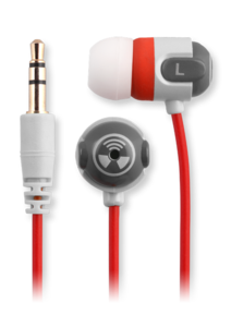 iFrogz EarPollution Origin Earbuds Red/Gray