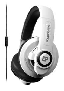 iFrogz EarPollution Phantom Headphones with Mic White