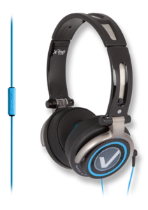 iFrogz Vertex Headphones with Microphone Black/Blue