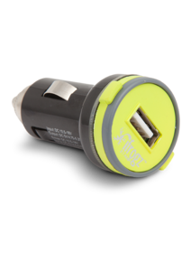 iFrogz UniqueCharge 2.1 Amp USB Car Charger Lime/Gray
