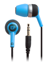 iFrogz Audio Heat Ear Buds with Memory Foam Tips Blue
