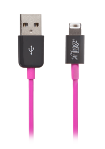 iFrogz UniqueSync Lightning (8 pin) Connector Cable Pink