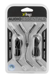iFrogz Essentials Audio Aux, Split, Extend Black