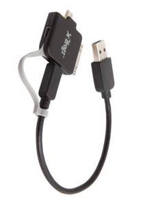 iFrogz TriplePlay Multi-tip Charge and Sync Cable Black/Green (Apple Micro & Mini USB)