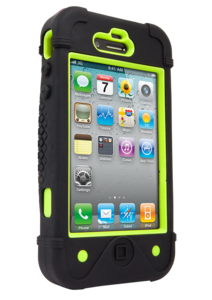 Apple iPhone 4 4S BullFrogz Case Black Green