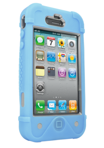iFrogz Apple iPhone 4/4S BullFrogz Case Light Blue/Grey