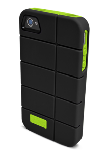 iFrogz Apple iPhone 4/4S Cocoon Cover Black/Lime TPU