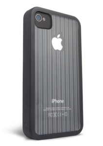 iFrogz Apple iPhone 4/4S Mix Black, Clear with Black Pin Stripes