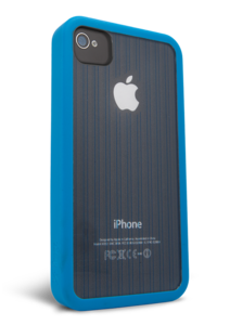 iFrogz Apple iPhone 4/4S Mix Blue, Clear with Blue Pin Stripes