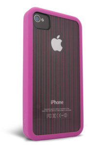 iFrogz Apple iPhone 4/4S Mix Pink, Clear with Pink Pin Stripes