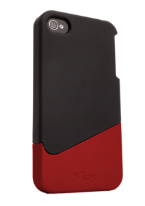 Apple iPhone 4 Universal Luxe Ascend Case Black Red