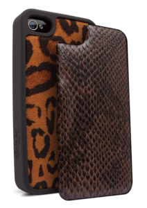 Apple iPhone 4 4S Valance Snake Leopard 2pk