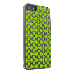iFrogz Groove Cover for iPhone 5 -  Gray w/ Green