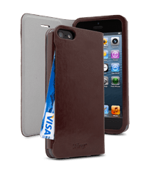 iFrogz Apple iPhone 5 PocketBook Cover Dark Brown