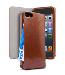 Apple iPhone 5 PocketBook Cover Light Brown