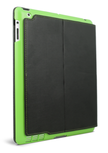 Apple iPad 2 Summit Case Black with Green snap in shell