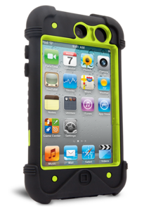 Apple iPod Touch 4th Gen Bullfrog Case Black Green