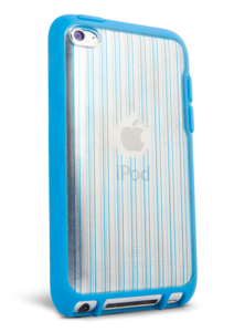 iFrogz Apple iPod Touch 4th Gen Mix Blue/Clear with Blue Pin Stripes