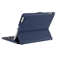 ZAGGfolio Metallic Blue with Silver Keyboard (Apple iPad 2/3rd Gen)