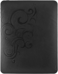 ZAGG LEATHERskin Black Floral and ZAGG Logo (Apple iPad)