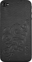 ZAGG LEATHERskin Black Embossed (Apple iPhone 4/4s)
