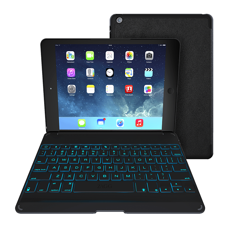 Zagg Folio Ipad Air Keyboard Case With Backlit Colors Zagg