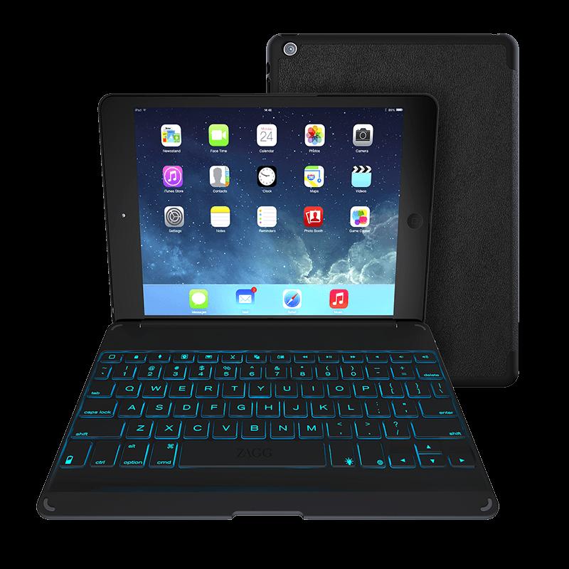 Zagg Folio Ipad Air Keyboard Case With Backlit Colors Zagg