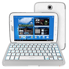 ZAGGkeys Folio White with White Backlit Keyboard (Samsung Galaxy Note 8.0)