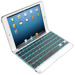keys Cover Silver Backlit Apple iPad Mini