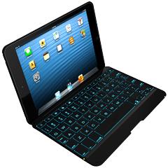 ZAGGkeys Folio w/Backlit Keyboard for iPad mini